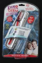 NEW ZERO GERM UV Light Toothbrush Sanitizer with Toothbrush, kills 99% of germs